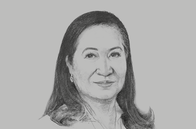 Sketch of <p>Andrea Domingo, Chairman and CEO, Philippine Amusement and Gaming Corporation</p>