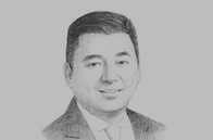 Sketch of <p>Dennis Uy, Founder and Chairman, Chelsea Logistics</p>