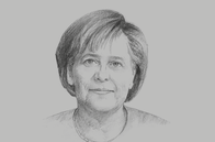 Sketch of <p>Angela Merkel, Chancellor of Germany</p>