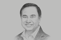 Sketch of <p>Kalin Sarasin, Chairman, The Thai Chamber of Commerce and Board of Trade of Thailand</p>