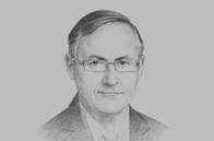 Sketch of <p>Alan Bollard, Executive Director, APEC Secretariat</p>