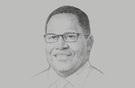 Sketch of <p>Hulala Tokome, Chairman, National Superannuation Fund</p>