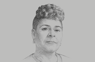 Sketch of <p>President Paula-Mae Weekes</p>