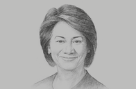 Sketch of <p>Karen Darbasie, Group CEO, First Citizens Trinidad and Tobago</p>