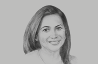 Sketch of <p>Patricia Ghany, President, American Chamber of Commerce of Trinidad and Tobago</p>