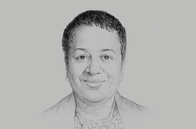 Sketch of <p>Allyson West, Minister of Finance</p>