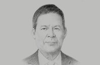 Sketch of <p>Derek Chin, Chairperson, Movie Towne</p>