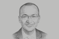 Sketch of <p>Patrick Ngugi Njoroge, Governor, Central Bank of Kenya (CBK)</p>