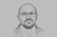 Sketch of <p>Geoffrey Gangla, CEO, Genghis Capital</p>