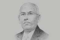 Sketch of <p>Ilyas Moussa Dawaleh, Minister of Economy and Finance</p>