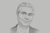 Sketch of <p>Ferid Belhaj, Vice-president for MENA, World Bank</p>
