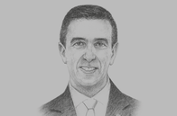 Sketch of <p>Ali Haddad, President, Algerian Business Leaders' Forum (Forum des Chefs d'Entreprise, FCE)</p>