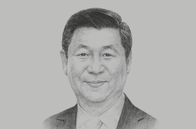 Sketch of <p>Xi Jinping, President of the People's Republic of China</p>