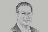 Sketch of <p>Mohamed Loukal, Governor, Bank of Algeria</p>