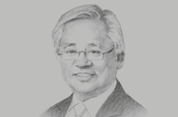 Sketch of <p>Serge Pun, CEO, New Yangon Development Company</p>