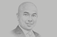 Sketch of <p>Thadoe Hein, Group CEO, Awba</p>