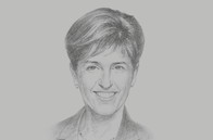 Sketch of <p>Marie-Claude Bibeau, Minister of International Development of Canada</p>
