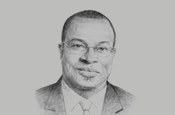 Sketch of <p>Emmanuel Esmel Essis, Director-General, Investment Promotion Agency (Centre de Promotion des Investissements en Côte d'Ivoire, CEPICI)</p>