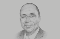Sketch of <p>Adama Koné, Minister of Economy and Finance</p>