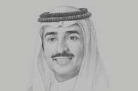 Sketch of <p>Sheikh Mohammed bin Khalifa bin Ahmed Al Khalifa, Minister of Oil</p>