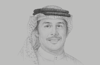 Sketch of <p>Khalid Al Rumaihi, Chief Executive, Bahrain Economic Development Board (EDB)</p>