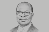 Sketch of <p>Ernest Addison, Governor, Bank of Ghana</p>