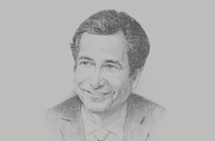 Sketch of <p>Mohamed Benchaâboun, Minister of Economy and Finance</p>