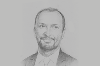 Sketch of <p>Mohcine Jazouli, Minister Delegate for African Cooperation, Ministry of Foreign Affairs</p>