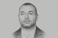 Sketch of <p>His Majesty King Mohammed VI</p>