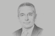 Sketch of <p>Moulay Hafid Elalamy, Minister of Industry, Investment, Trade and Digital Economy</p>