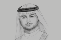 Sketch of <p>Sheikh Maktoum bin Mohammed bin Rashid Al Maktoum, Deputy Ruler of Dubai; President, Financial Audit Authority; and Chairman, Dubai International Financial Centre</p>