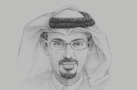 Sketch of <p>Hamad Buamim, President and CEO, Dubai Chamber of Commerce and Industry</p>