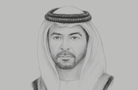 Sketch of <p>Sheikh Hamdan bin Zayed Al Nahyan, Ruler's Representative in the Al Dhafra Region</p>