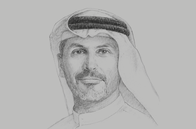 Sketch of <p>Khaldoon Khalifa Al Mubarak, Group CEO and Managing Director, Mubadala Investment Company</p>