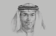 Sketch of <p>Mugheer Khamis Al Khaili, Chairman, Department of Community Development (DCD)</p>