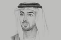 Sketch of <p>Sheikh Mansour bin Zayed Al Nahyan, Deputy Prime Minister and Minister of Presidential Affairs</p>