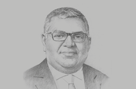 Sketch of <p>Prabhash Subasinghe, Managing Director, Global Rubber</p>