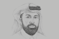 Sketch of <p>Omar Ali Al Ansari, Secretary-General, Qatar Research, Development and Innovation (QRDI) Council</p>