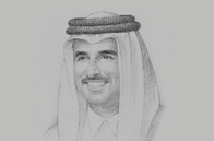 Sketch of <p>HH Sheikh Tamim bin Hamad Al Thani, Amir of the State of Qatar</p>