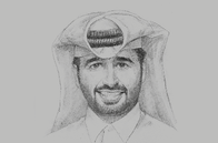 Sketch of <p>Abdulaziz bin Nasser Al Khalifa, CEO, Qatar Development Bank (QDB)</p>
