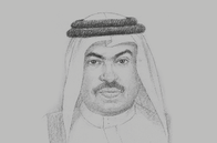 Sketch of <p>Ali bin Ahmed Al Kuwari, Minister of Commerce and Industry</p>