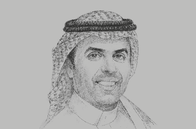 Sketch of <p>Ibrahim Al Omar, Governor, Saudi Arabian General Investment Authority</p>