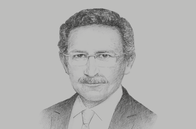 Sketch of <p>Tarek Tawfik, President, American Chamber of Commerce in Egypt</p>