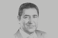 Sketch of <p>Hisham Ezz Al Arab, Chairman, Federation of Egyptian Banks and Commercial International Bank</p>