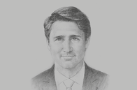 Sketch of <p>Justin Trudeau, Prime Minister of Canada</p>