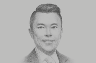 Sketch of <p>Kevin Tan, CEO, Alliance Global Group</p>
