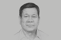 Sketch of <p>President Rodrigo Roa Duterte</p>