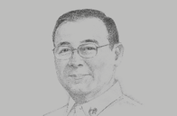 Sketch of <p>Teodoro L Locsin, Secretary of Foreign Affairs</p>