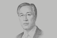 Sketch of <p>Nestor Tan, President and CEO, BDO Unibank</p>