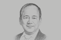 Sketch of <p>Ramon S Monzon, President and CEO, Philippine Stock Exchange (PSE)</p>